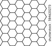 honeycomb hexagon template... | Shutterstock .eps vector #584620273