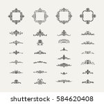 vintage decor elements and... | Shutterstock . vector #584620408