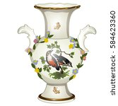 single ceramic floor vase with...   Shutterstock .eps vector #584623360