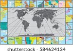 abstract world map with... | Shutterstock .eps vector #584624134