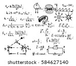 electric magnetic law theory... | Shutterstock .eps vector #584627140