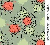 raster fruits seamless pattern. ... | Shutterstock . vector #584629366