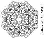 mandala. vector ethnic oriental ... | Shutterstock .eps vector #584634370