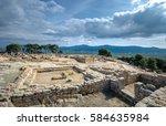 ancient ruins of phaistos city  ... | Shutterstock . vector #584635984