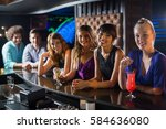 portrait of smiling friends...   Shutterstock . vector #584636080