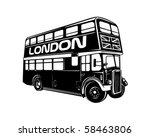 Double Decker Bus   Retro Clip...