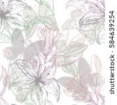 beautiful seamless pattern with ... | Shutterstock .eps vector #584639254