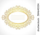 vector gold baroque frame with... | Shutterstock .eps vector #584640334