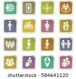 community vector icons for user ... | Shutterstock .eps vector #584641120