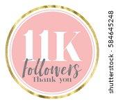 thank you followers. social... | Shutterstock . vector #584645248