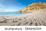 Panorama Of Matala Beach With...