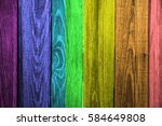 Wood Planks With Seven Colors...