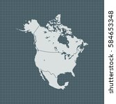 map of north america | Shutterstock .eps vector #584653348