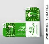 vector blank of gift voucher... | Shutterstock .eps vector #584654518
