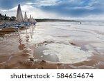 beach in gargano  southern... | Shutterstock . vector #584654674