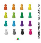 different leisure game pawn...   Shutterstock .eps vector #584655070
