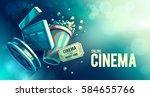 online cinema art movie... | Shutterstock .eps vector #584655766