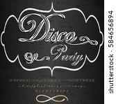 font handcrafted vector script...   Shutterstock .eps vector #584656894