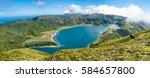 panoramic image of lagoa do... | Shutterstock . vector #584657800