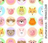 seamless children pattern with... | Shutterstock . vector #584661268