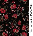 floral vector | Shutterstock .eps vector #584663746