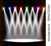 empty stage illuminated with... | Shutterstock .eps vector #584670364