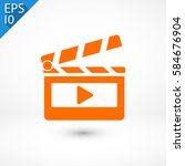 clapper board  icon. one of set ... | Shutterstock .eps vector #584676904