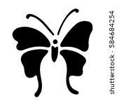 beautiful butterfly cute gift... | Shutterstock .eps vector #584684254