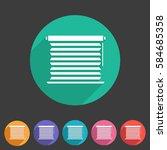 window louvers  plisse ...   Shutterstock .eps vector #584685358