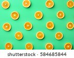 Colorful Fruit Pattern Of Fres...