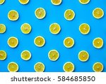colorful fruit pattern of fresh ... | Shutterstock . vector #584685850