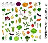 big collection of hand drawn... | Shutterstock .eps vector #584685910