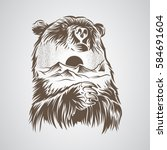 abstract bear and forest | Shutterstock .eps vector #584691604