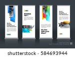 abstract business vector set of ... | Shutterstock .eps vector #584693944