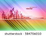night city  vector illustration   Shutterstock .eps vector #584706010