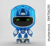 juicy blue robot pr manager ... | Shutterstock . vector #584706250