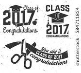 set of vector class of 2017... | Shutterstock .eps vector #584711824