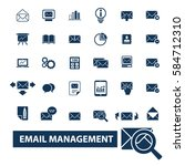 email management icons | Shutterstock .eps vector #584712310