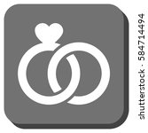 wedding rings interface icon....