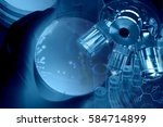 experiments in the laboratory   ...   Shutterstock . vector #584714899