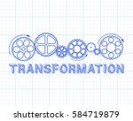 transformation text with gear...   Shutterstock .eps vector #584719879