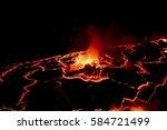 volcano  active volcano crater... | Shutterstock . vector #584721499