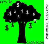 money tree isolated . vector... | Shutterstock .eps vector #584721940