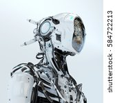 Futuristic Robotic Wired Pilot...