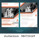 two sided brochure or flayer... | Shutterstock .eps vector #584724169