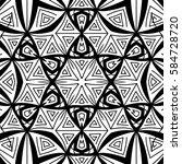 seamless ethnic pattern. adult... | Shutterstock .eps vector #584728720