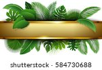 golden banner with text space... | Shutterstock .eps vector #584730688