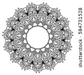mandala for coloring book.... | Shutterstock .eps vector #584731528