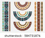 beadwork with ornament. ethnic... | Shutterstock .eps vector #584731876