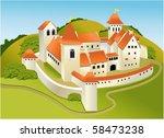 cartoon old castle | Shutterstock .eps vector #58473238